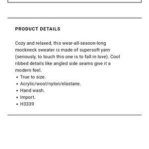 Madewell Sweaters - Madewell Northfield Mockneck Sweater